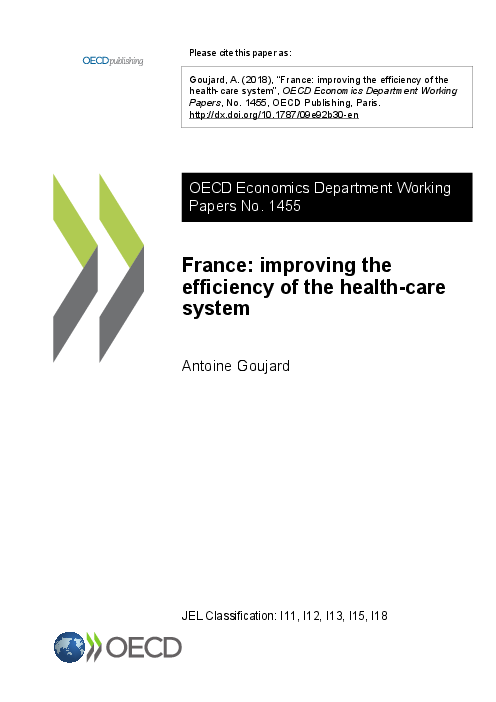 프랑스 : 보건의료서비스 효용성 증대방안 (France: improving the efficiency of the health-care system)(2018)