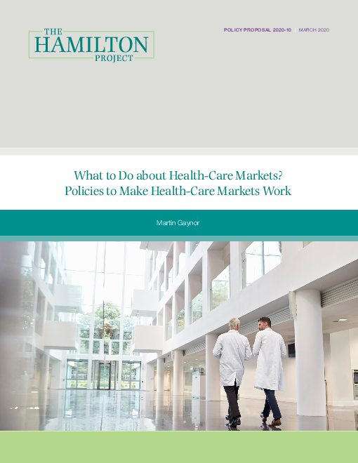 보건의료 시장 개선 제안 : 보건의료 시장을 개선할 정책 (What to do about health-care markets? Policies to make health-care markets work)(2020)