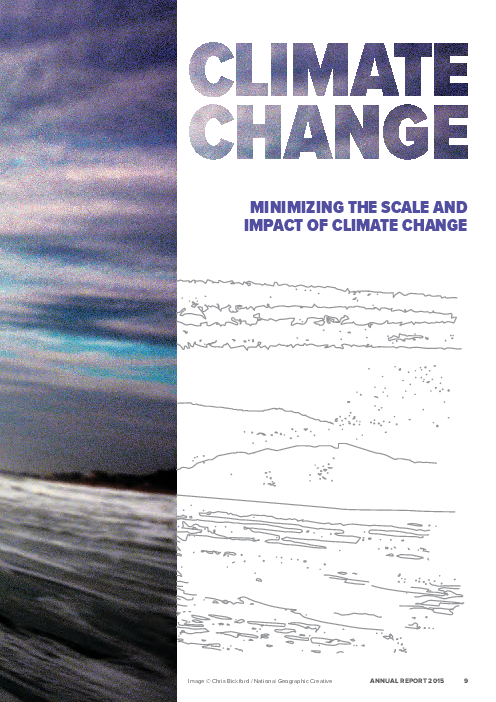 Climate change: Minimizing the scale and impact of climate change – UNEP 2015 Annual Report