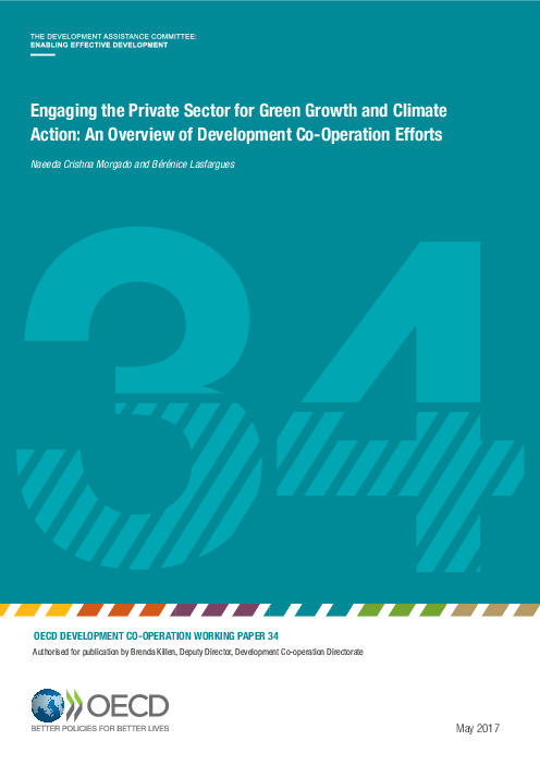 OECD Development co-operation working paper 34: Engaging the private sector for green growth and climate action: an overview of development co-operation efforts