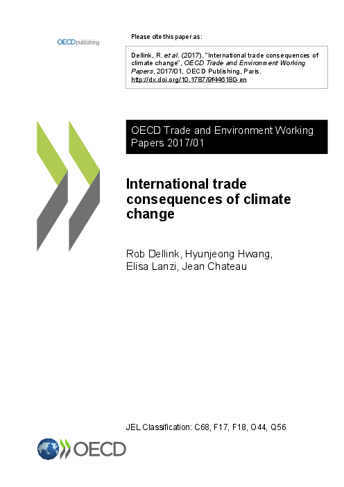 OECD Trade and environment working papers 2017/01: International trade consequences of climate change