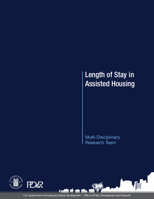 정부지원주택 거주 기간 (Length of stay in assisted housing)