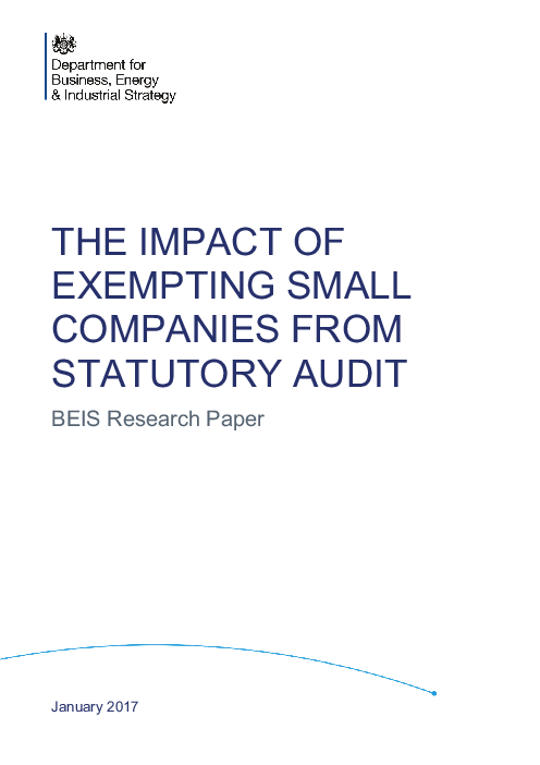 중소기업 법정 감사 면제의 영향 (The impact of exempting small companies from statutory audit)