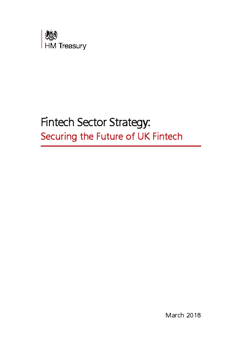 핀테크 부문 전략 : 영국 핀테크의 미래 대비 (Fintech sector strategy: securing the future of UK fintech)