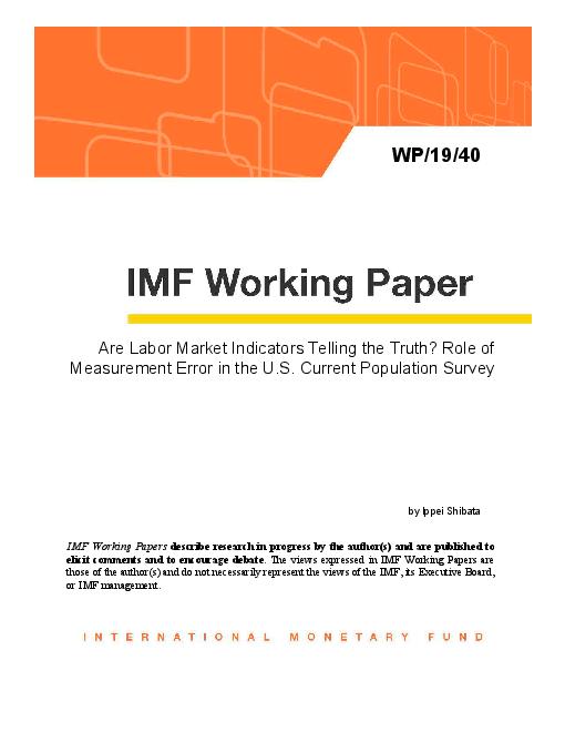 노동 시장 지표의 진실 : 미국의 상시인구조사에서 발생하는 오류 (Are Labor Market Indicators Telling the Truth? Role of Measurement Error in the U.S. Current Population Survey)