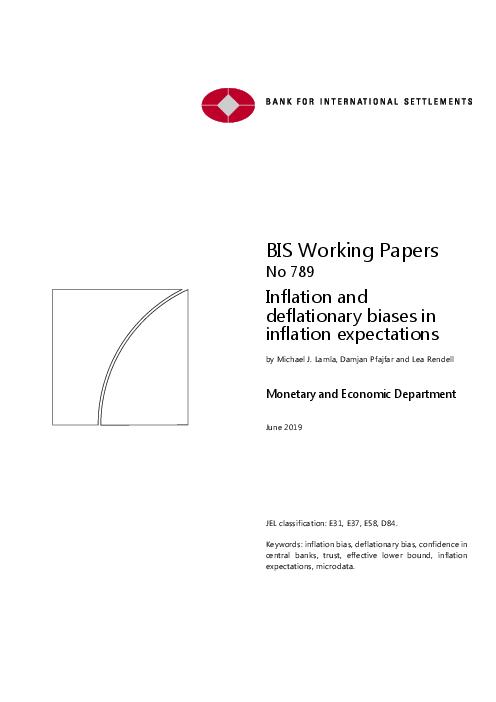 인플레이션 예상 시 인플레이션 및 디플레이션 편견 (Inflation and deflationary biases in inflation expectations)
