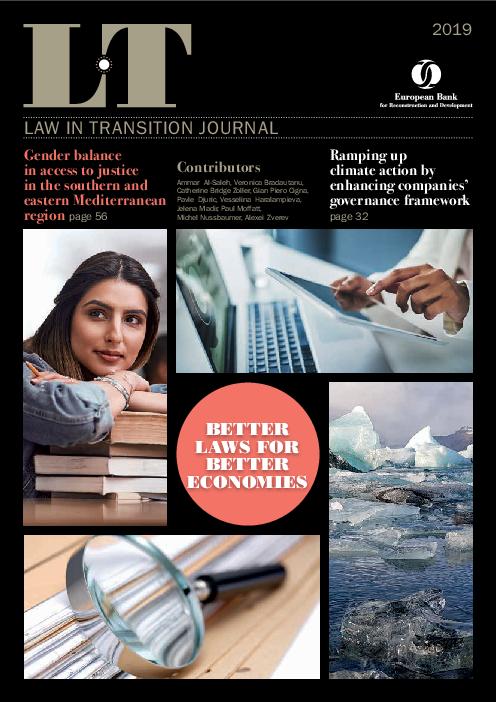 2019년 전환기의 법률 : 더 나은 경제를 위한 더 나은 법 (Law in transition 2019: Better Laws for Better Economies)