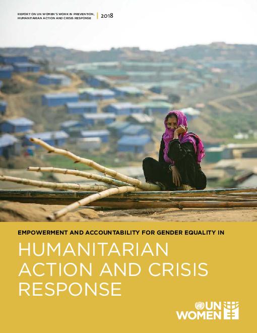 2018년 인도주의 활동 및 위기대응 관련 양성평등 강화와 책임  (Empowerment and accountability for gender equality in humanitarian action and crisis response 2018)