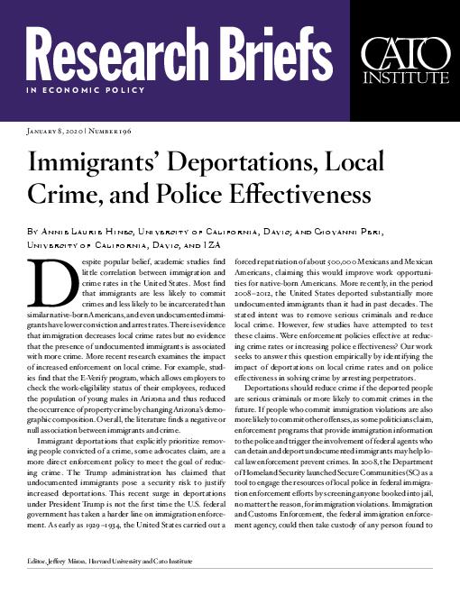 이주민의 강제이주, 지역사회 범죄 및 경찰의 효율성 (Immigrants' Deportations, Local Crime, and Police Effectiveness)