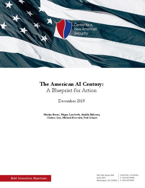 미국 인공지능(AI) 세기 : 실행 청사진 (The American AI Century: A Blueprint for Action)