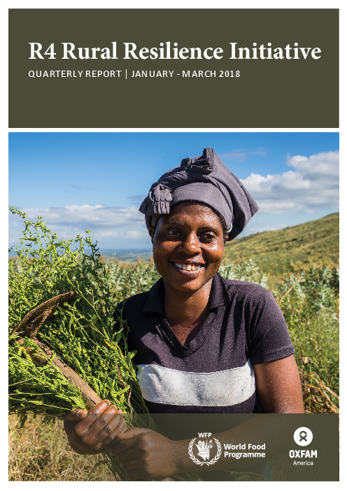 R4 Rural Resilience Initiative: Quarterly Report: January - March 2018