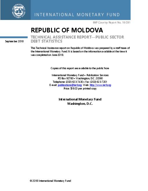 Republic of Moldova: Technical Assistance Report-Public Sector Debt Statistics