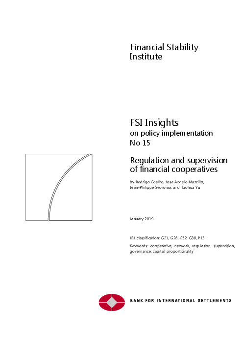 Regulation and supervision of financial cooperatives