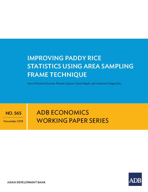 Improving Paddy Rice Statistics Using Area Sampling Frame Technique