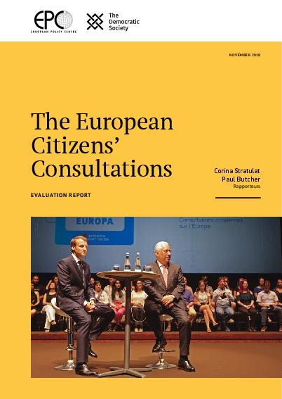 The European Citizens' Consultations - Evaluation report