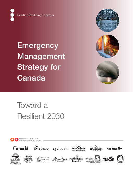 Emergency Management Strategy for Canada: Toward a Resilient 2030