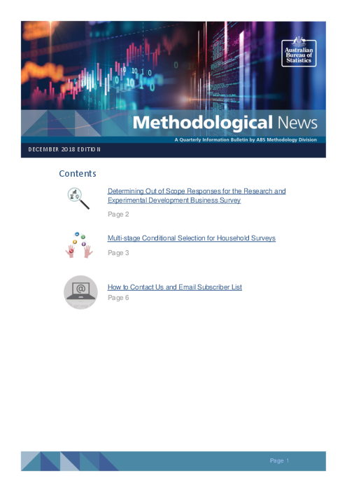 Methodological News: December 2018 edition
