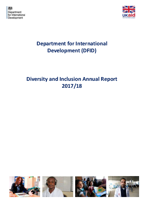 Department for International Development (DFID) Diversity and Inclusion Annual Report 2017/18