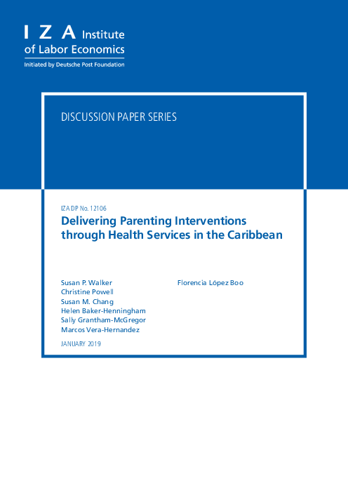 Delivering Parenting Interventions through Health Services in the Caribbean