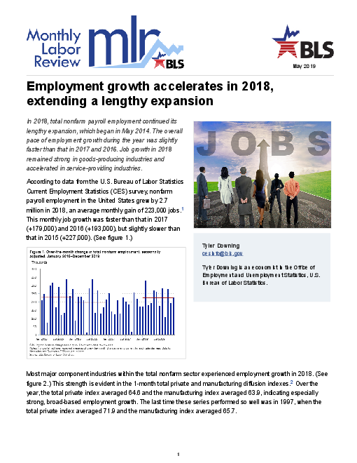 Employment growth accelerates in 2018, extending a lengthy expansion