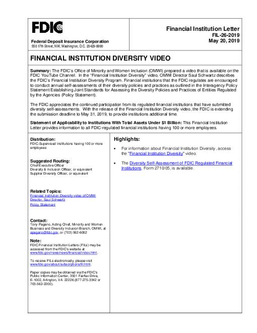 Financial Institution Diversity Video