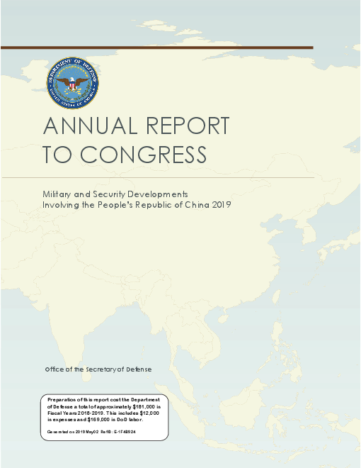 Annual Report to Congress: Military and Security Developments Involving the People's Republic of China 2019