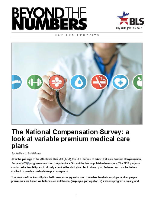 The National Compensation Survey: a look at variable premium medical care plans