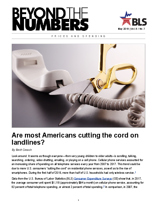 Are most Americans cutting the cord on landlines?