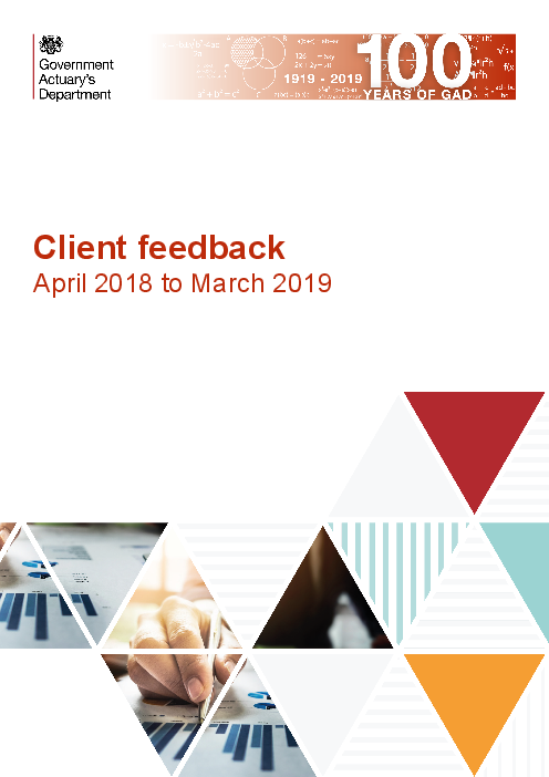 Client feedback: April 2018 to March 2019