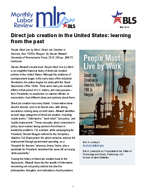 Direct job creation in the United States: learning from the past