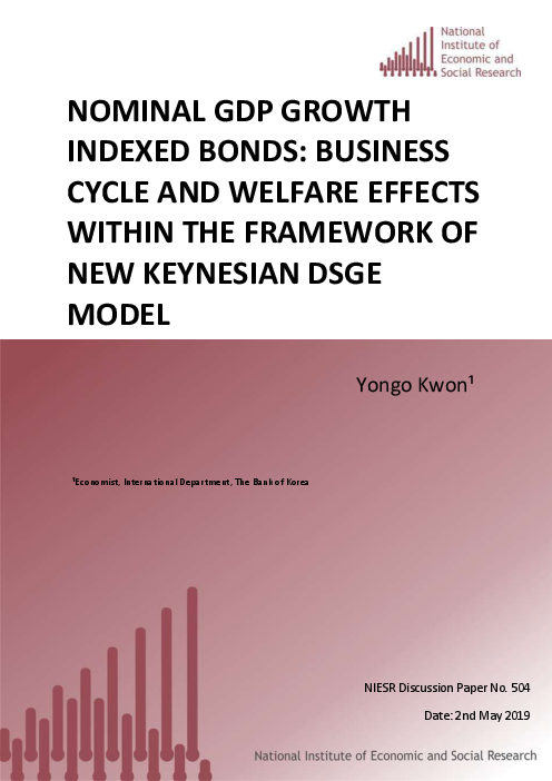 Nominal GDP growth indexed bonds: Business Cycle and Welfare Effects within the Framework of New Keynesian DSGE model