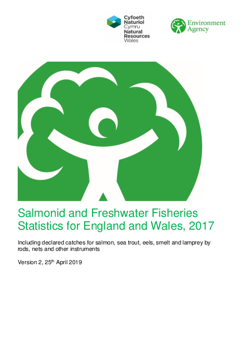 Salmonid and Freshwater Fisheries Statistics for England and Wales, 2017
