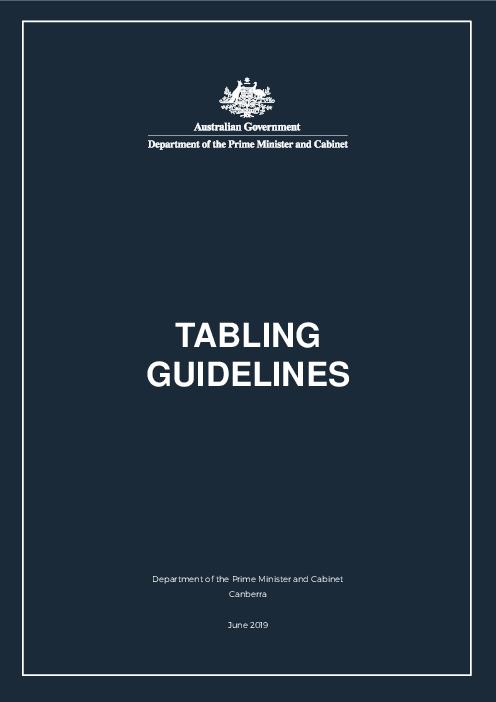 Tabling guidelines