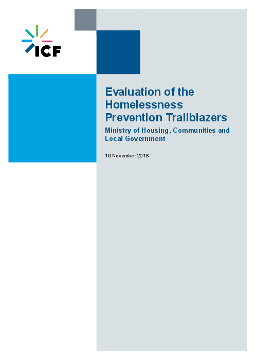 Evaluation of the Homelessness Prevention Trailblazers