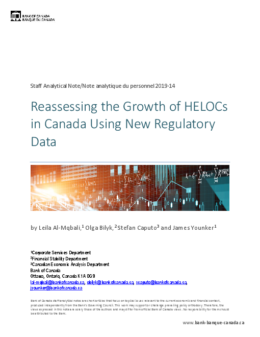 Reassessing the Growth of HELOCs in Canada Using New Regulatory Data