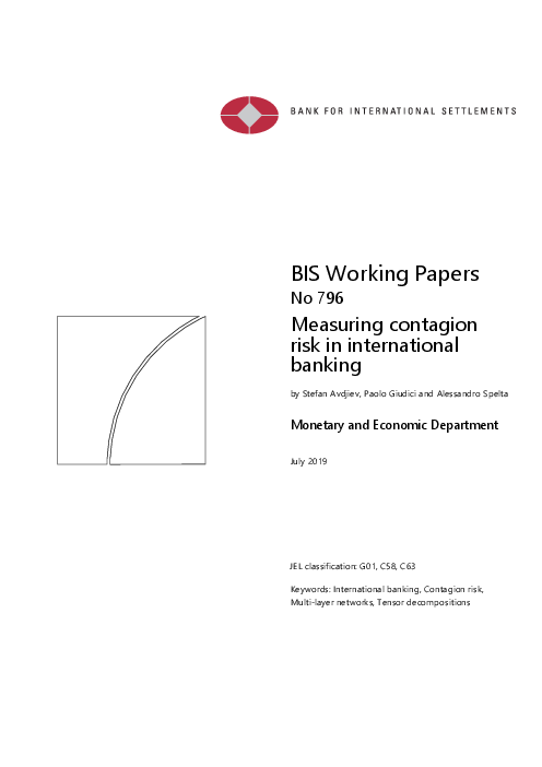 Measuring contagion risk in international banking