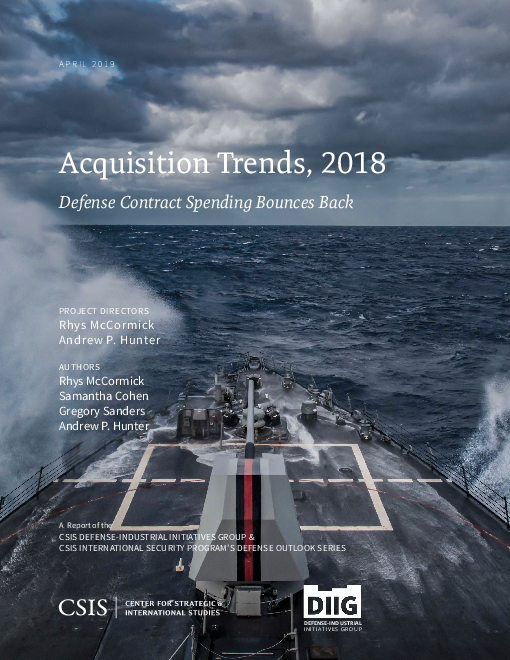 Acquisition Trends, 2018: Defense Contract Spending Bounces Back
