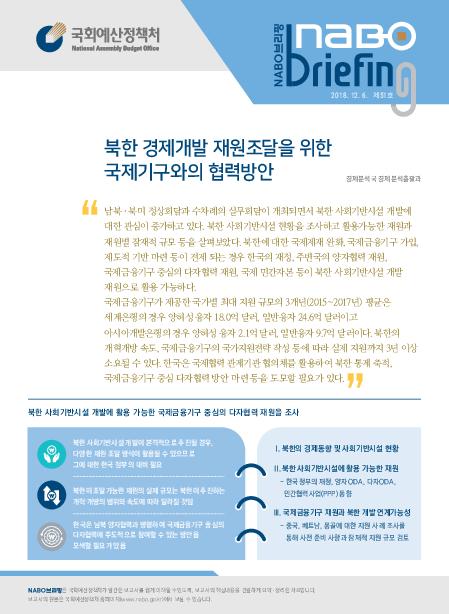 북한 경제개발 재원조달을 위한 국제기구와의 협력방안