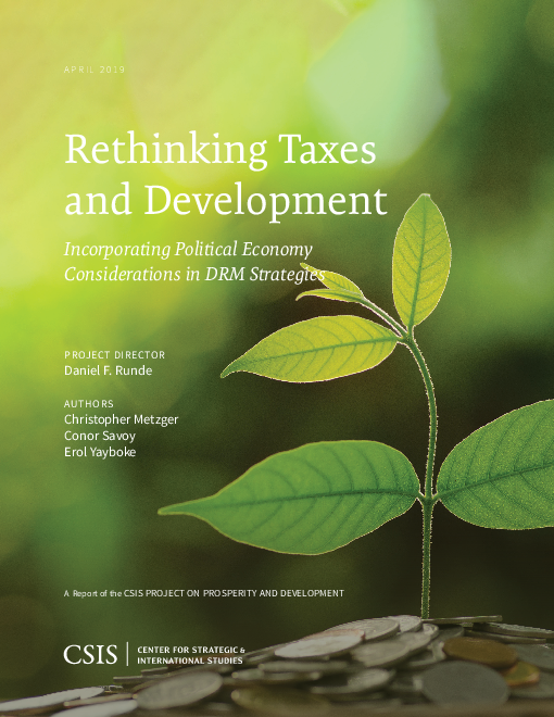 Rethinking Taxes and Development: Incorporating Political Economy Considerations in DRM Strategies