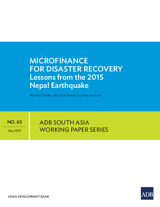 Microfinance for Disaster Recovery: Lessons from the 2015 Nepal Earthquake