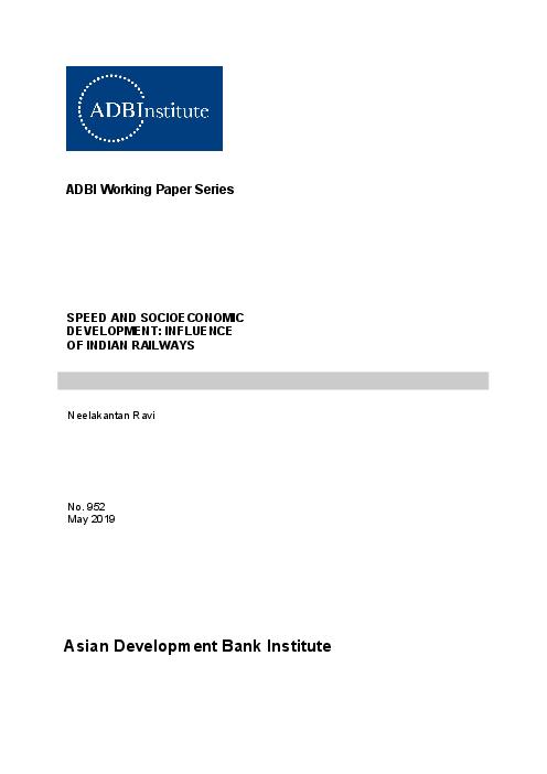 Speed and Socioeconomic Development: Influence of Indian Railways