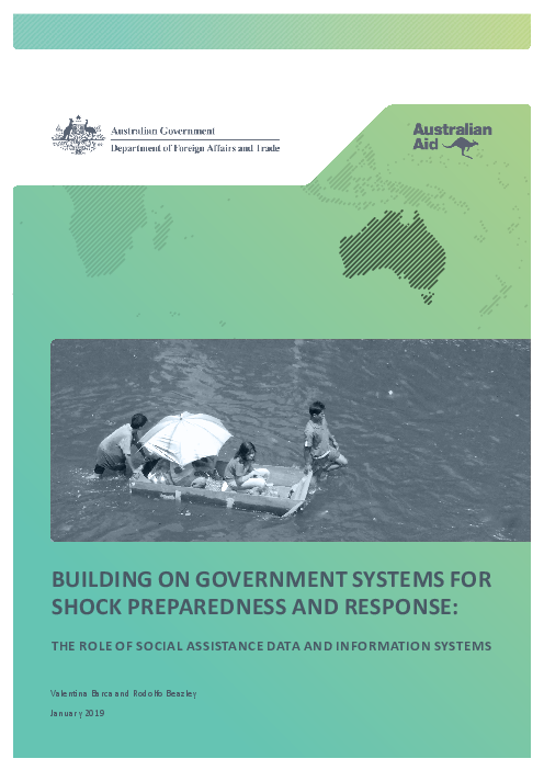 Building on government systems for shock preparedness and response: The role of social assistance data and information systems