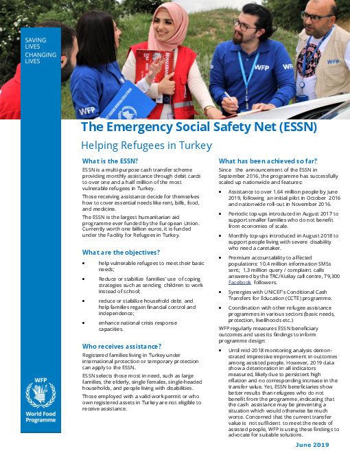 The Emergency Social Safety Net (ESSN): Helping Refugees in Turkey