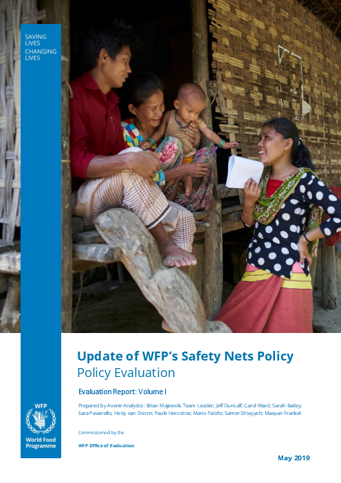 Update of WFP's Safety Nets Policy: Policy Evaluation (Evaluation Report: Volume I)