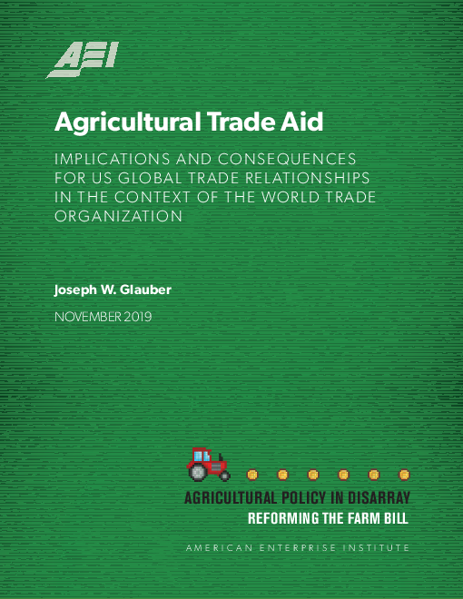 Agricultural trade aid: Implications and consequences for US global trade relationships in the context of the World Trade Organization