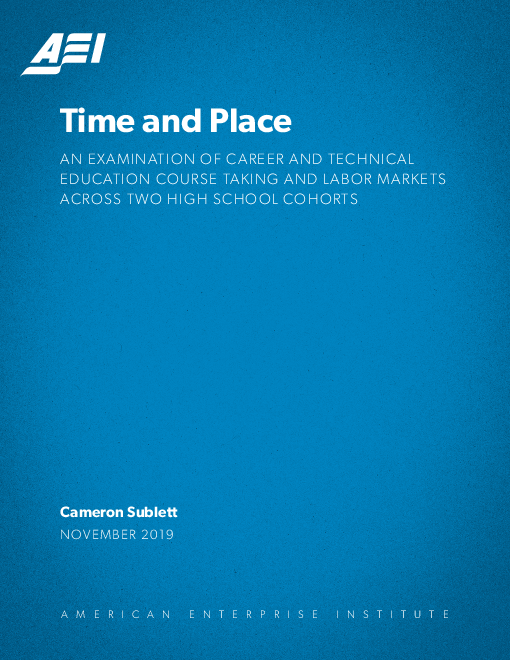 Time and Place: An examination of career and technical education course taking and labor markets across two high school cohorts