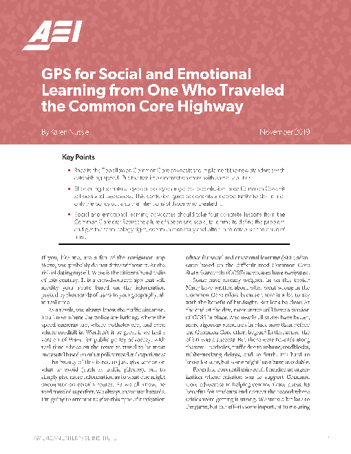 GPS for social and emotional learning from one who traveled the Common Core highway