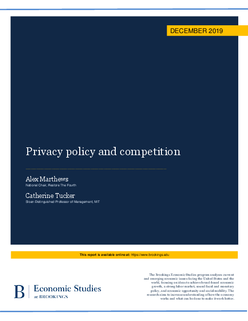 Privacy policy and competition