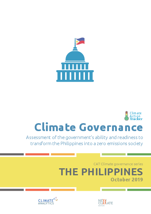Climate Governance: Assessment of the government's ability and readiness to transform the Philippines into a zero emissions society