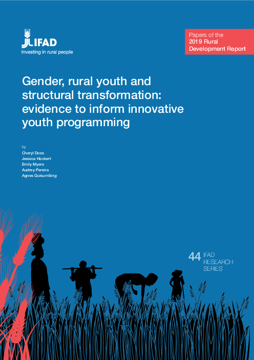 Gender, rural youth and structural transformation: evidence to inform innovative youth programming